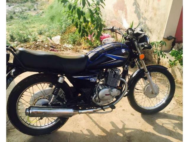 Suzuki GS 150 cc Black Color Model 2014 For Sale In Lahore