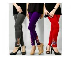 Pack Of 3 Embroidered Tights Colors Available For Sale Cash On Delivery
