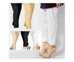 Discount Offer For Girls Pack Of 3 Cigarette Pants Delivery Available