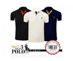 Pack Of 3 Polo T-shirts For Men's In Just 1299 For Sale Cash On Delivery
