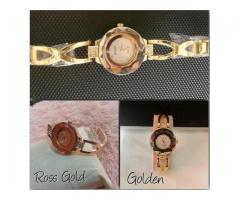 GUCCI Watch For Girls In Golden Color For Sale with Home Delivery
