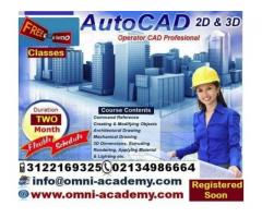 Get International Certified Diploma Of Auto Cad 2D & 3D Karachi