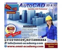 Get International Certified Diploma Of Auto Cad 2D & 3D Karachi