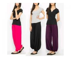 Pack Of Three Harem Pants For Girls Colors Available Cash On Delivery
