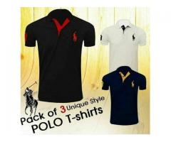 Pack Of 3 Unique Style Polo T-shirts For Sale Cash On Delivery