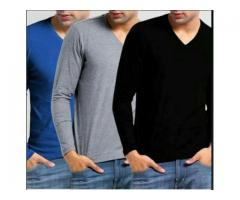 Pack Of 3 V-neck T-shirts For gents Colors Available cash On Delivery