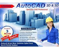 International Certification Diploma Of Auto Cad 2D & 3D Classes In Karachi