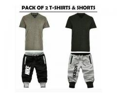 Summer Offer Pack Of Two T-shirts And Shorts For Sale Cash On Delivery