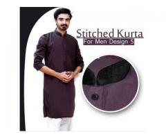 Spacial Eid Offer Stitched Kurta Design 5 For Gents Cash On Delivery