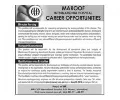 MAROOF INTERNATIONAL HOSPITAL CAREER OPPORTUNITIES