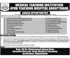Ayub Teaching Hospital Abbottabad Latest Jobs 2016