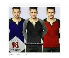 Pack Of Three Designers T-shirts For Gents for Sale Delivery Available