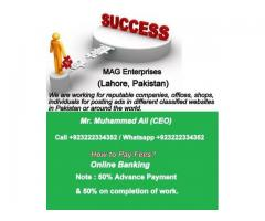 Classified Ads Posting Service, Backpage Ads Posting Service in Lahore
