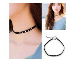 Black Dots choker With Stitched White Pearls For Sale Cash On Delivery