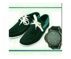 Loafer Shoes With One Watch In Just 1999 For Sale With Home Delivery