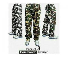 Commando Trousers Pack Of 3 Trousers In Just 2899 Get It Via Home Delivery