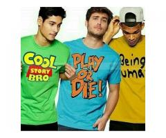 Funky T-shirts For Gents Colors Available price 1499 Home Delivery Available
