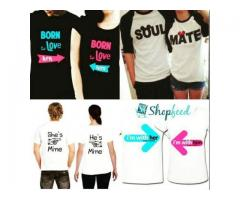 Couple T-shirts With Discount Offer For Sale Cash On Delivery