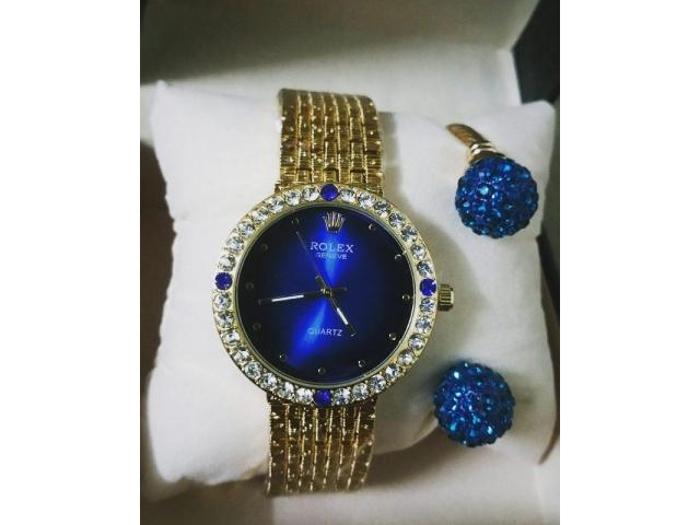 Rolex Combo Watch And Bracelet For Girls Original Watch Free Home Delivery